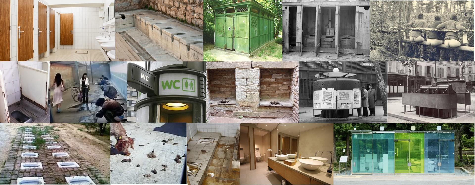 Les toilettes publiques.