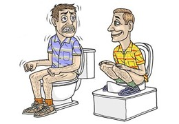 Toilettes : assis ou accroupi